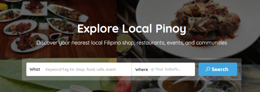 Local Pinoy Homepage Search